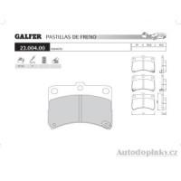 GALFER přední brzdové desky typ FDT 1055 DAIHATSU CUORE VI (L7) 1.0i -- rok výroby 98-03 ( brzdový systém SUM )